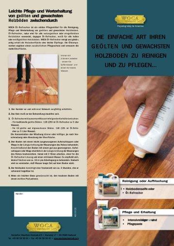 und regelmäßige Pflege - Parkett Direkt GmbH