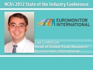 Lee Linthicum Head of Global Food Research Euromonitor ...
