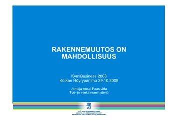 RAKENNEMUUTOS ON MAHDOLLISUUS