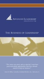Advanced Leadership Institute - the Mechanical Contractors ...