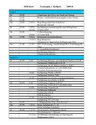 DSB Kairo Terminplan 1. Halbjahr 2009/10 August Do 20.08 ...