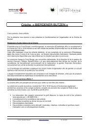 Crèche « BIERDENER BUTZEN » - Croix-Rouge luxembourgeoise