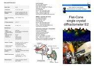 Flat-Cone single crystal diffractometer E2 - Universität Tübingen