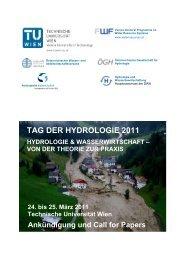 TAG DER HYDROLOGIE 2011 - Technische Universität Wien