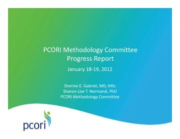 Methodology Committee Report - Patient Centered Outcomes ...