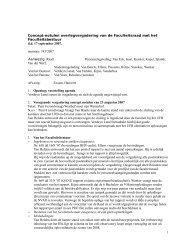Concept-notulen overlegvergadering van de Faculteitsraad met het ...
