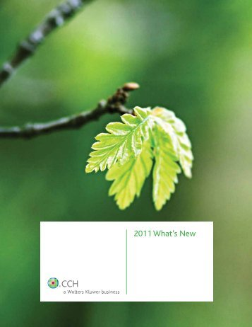 2011 What's New - CCH Canadian
