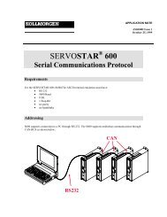 SERVOSTAR 600