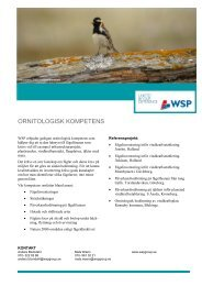 ORNITOLOGISK KOMPETENS - WSP Group