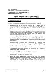 Bando Misura 225 - Regione Campania