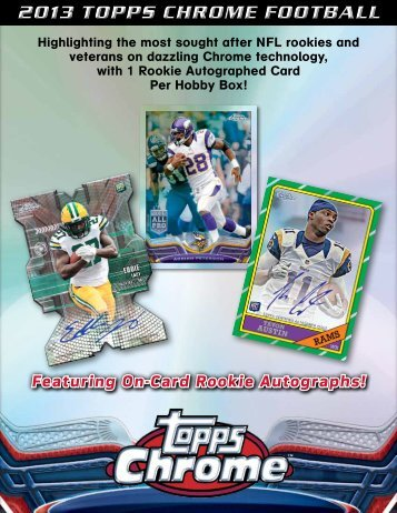 2013 Topps Chrome Football Color Sell Sheet - Magazine Exchange
