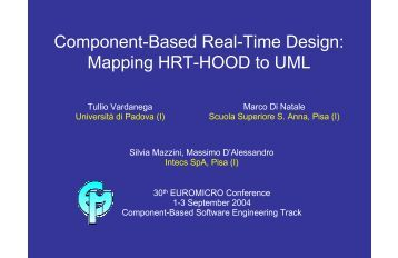 Component-Based Real-Time Design: Mapping HRT-HOOD to UML