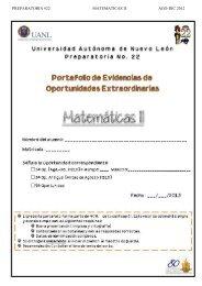 PREPARATORIA #22 MATEMATICAS II AGO-DIC 2012