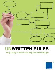 Unwritten Rules: Why Doing a Good Job Might Not Be ... - Catalyst