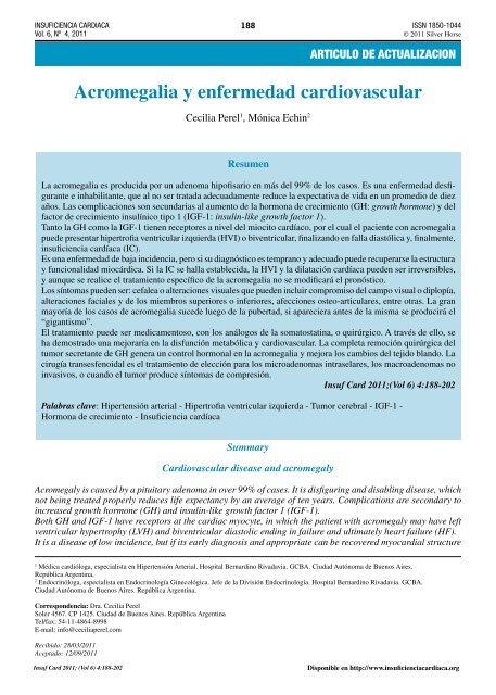 Patogénesis de la hipertensión en acromegalia y gigantismo