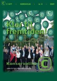 C-NYT - HØRSHOLM - nr. 4 - 2009 - Konservative Folkeparti