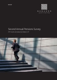 Second Annual Pensions Survey - Nabarro