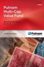 Putnam Multi-Cap Value Fund - Putnam Investments