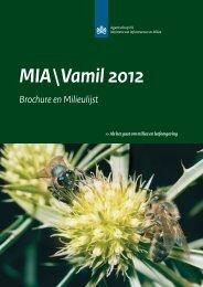 Brochure en Milieulijst 2012 - Agentschap NL