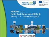 Bottlenecks and potential on the Midnordic Green transport Corridor