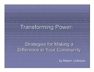 Transforming Power Part 1 09.06.07