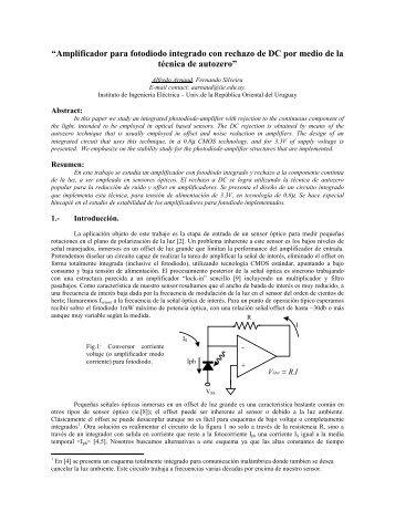 """""""Amplificador para fotodiodo integrado con rechazo de ... - Iberchip.net"""