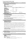 Sicherheitsdatenblatt Sicherheitsdatenblatt gemäß 91/155/EWG ... - Page 4