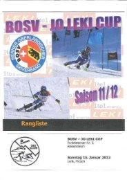 Rangliste - Swiss Ski KWO