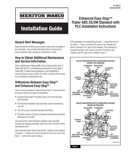 meritor abs wiring diagram power cord installation guide meritor wabco  installation guide meritor wabco