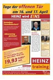 Tage der offenen Tür am 16. und 17. April Tage der ... - HEINZ training
