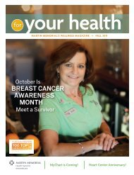 Breast CanCer aWareness MOntH - Martin Memorial Health Systems