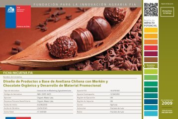 Diseño de Productos a Base de Avellana Chilena con Merkén ... - Fia