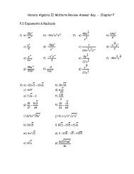 Algebra I Chapter 2 Practice Workbook Answer Key