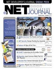 net developer's journal sneak peek - sys-con.com's archive of ...