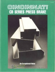 Cincinnati CB Series Press Brake Brochure - Sterling Machinery