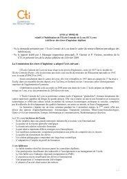 Avis Centrale Lyon - Commission des Titres d'Ingénieur
