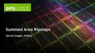 Summed Area Ripmaps - GPU Technology Conference