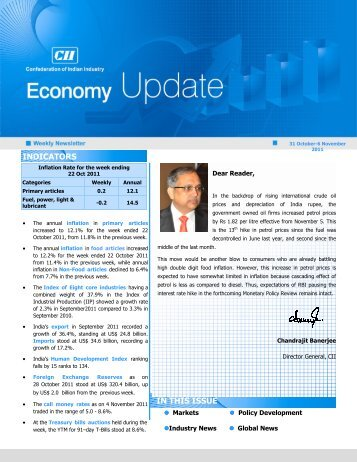 Economy Update 31 Oct-6 Nov - CII