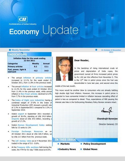 Economy Update 31 Oct-6 Nov - CII