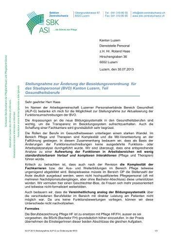 Stellungnahme zur Änderung der Besoldungsverordnung für das ...