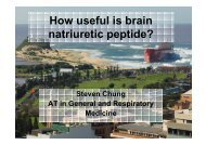 How useful is brain natriuretic peptide? - Tour Hosts Pty Limited