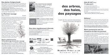 numéro 21 - septembre 2012 - Arbre & Paysage