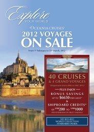 2012 VOYAGES - Oceania Cruises