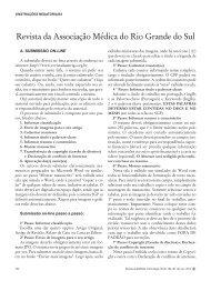 Revista da Associação Médica do Rio Grande do Sul - Amrigs