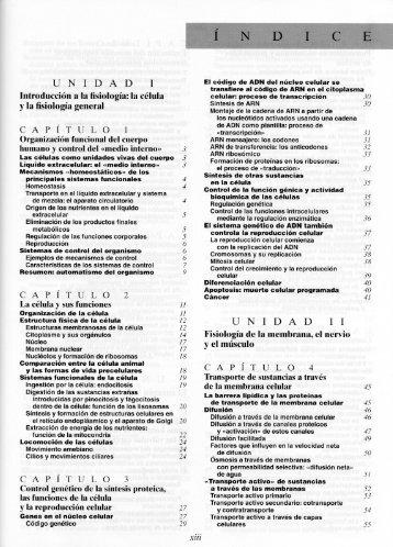 UNIDAD 1 Introducción a la fisiología:la célula y la fisiologíageneral ...