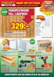 FURUPLYWOOD TILL LÅGPRIS! - Cheapy