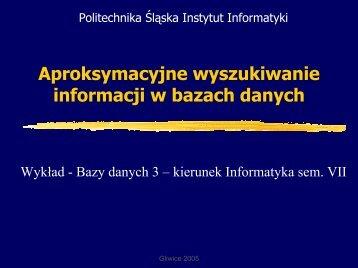 Rozmyte - Zakład Teorii Informatyki - Politechnika Śląska