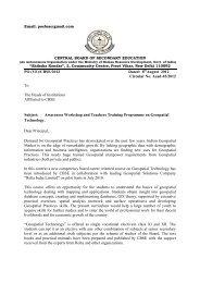 Awareness Workshop and Teachers Training Programme ... - CBSE