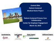 Central Ohio Patient-Centered Medical Home Project Patient ...