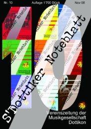 s'Dottiker Noteblatt Nr. 10 (PDF) - Musikgesellschaft Dottikon